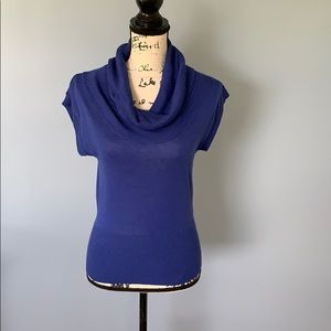 H & M royal blue cowl neck small sweater